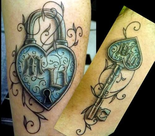 Pix For His And Hers Lock And Key Tattoos Tattoos I Ideas And Designs
