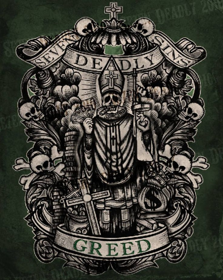 Se7En Deadly Deadly Greed Print 11X14 Outgoing Ideas And Designs