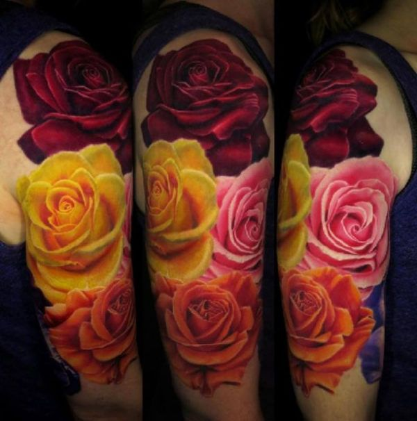 Best 20 3D Rose Tattoo Ideas On Pinterest Colorful Rose Ideas And Designs