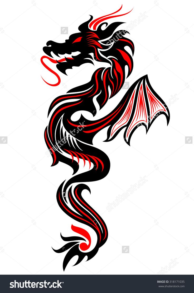 25 Best Ideas About Tribal Dragon Tattoos On Pinterest Ideas And Designs