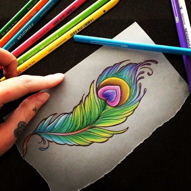 Peacock Feather Heart Tattoo Idea For My Mom Maybe I Can Ideas And Designs