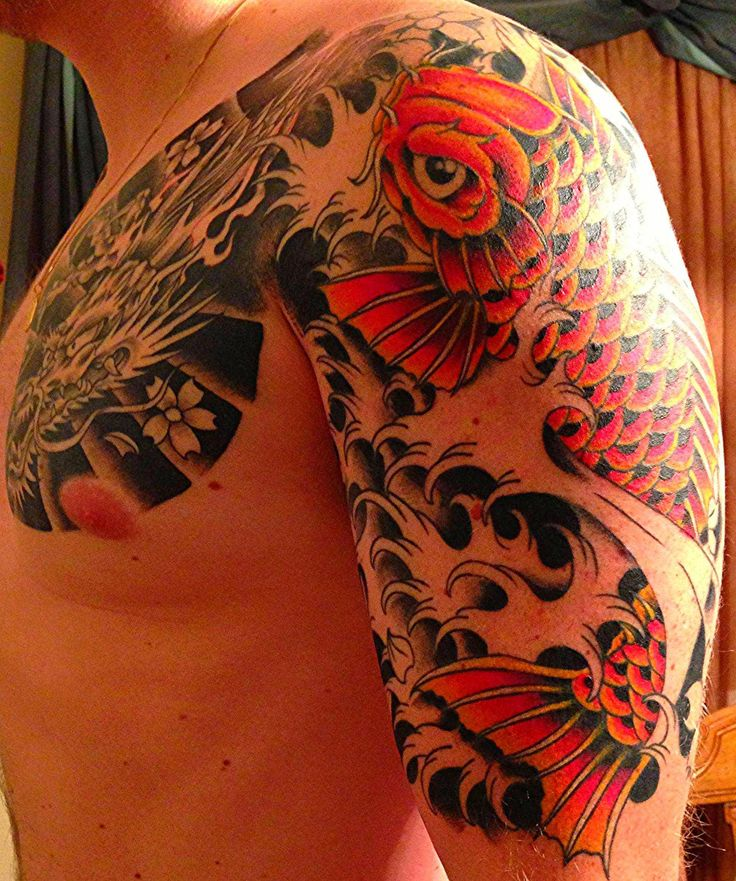 Koi 1 2 Sleeve Second Session Colour Phil Cisco Ideas And Designs