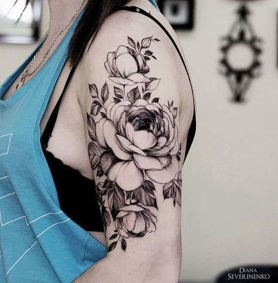 17 Best Ideas About 3D Flower Tattoos On Pinterest Ideas And Designs