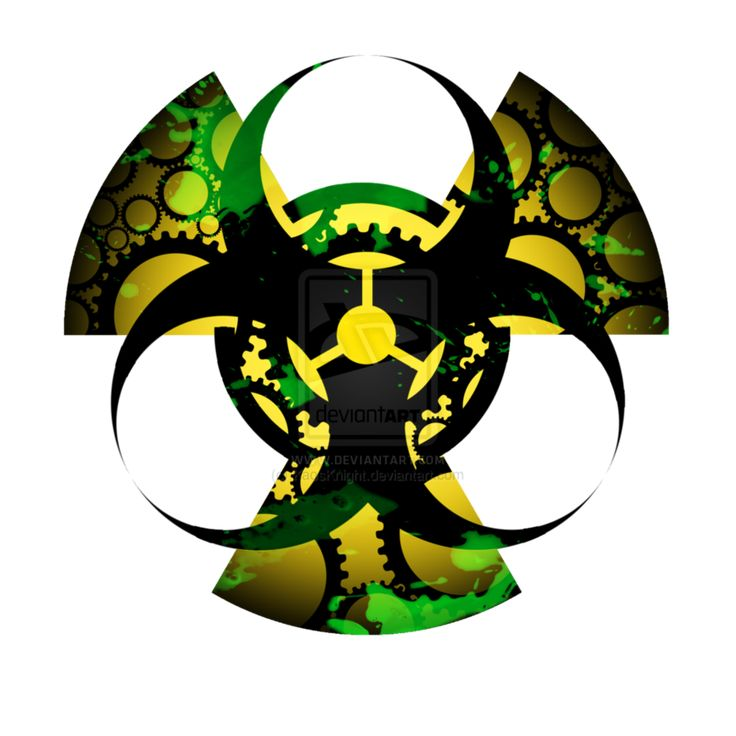 Biohazard Radiation Symbol Together With Gears Artwork Ideas And Designs