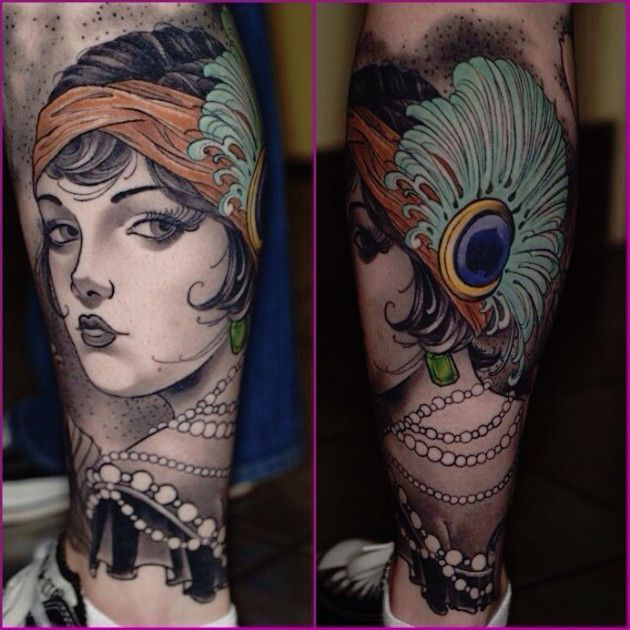 1000 Ideas About Flapper Tattoo On Pinterest Art Deco Ideas And Designs
