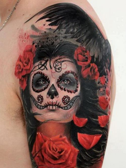 17 Best Ideas About Sugar Skull Sleeve On Pinterest Ideas And Designs