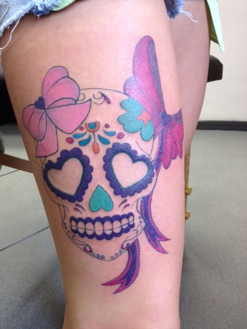 17 Best Images About Girly Skull Tattoos On Pinterest Ideas And Designs