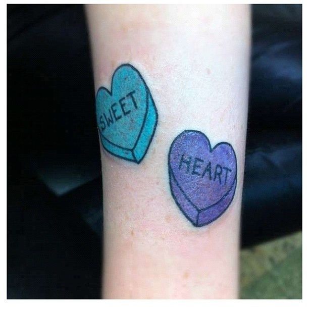 Candy Heart Tattoo Tattoos Pinterest Couple Tattoos Ideas And Designs