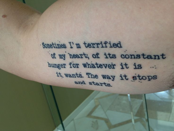 Quote Tattoo I Recently Got Bicep Tattoo Heart Tattoo Ideas And Designs