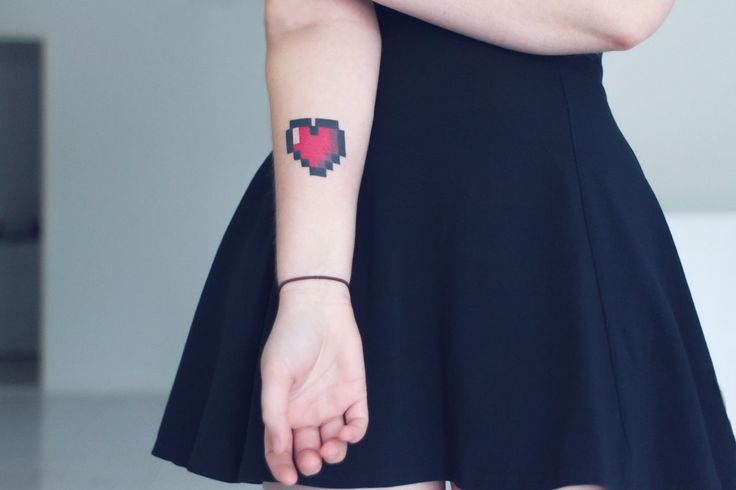 8 Bit Heart Tattoo We Want To Get This As A Family Ideas And Designs