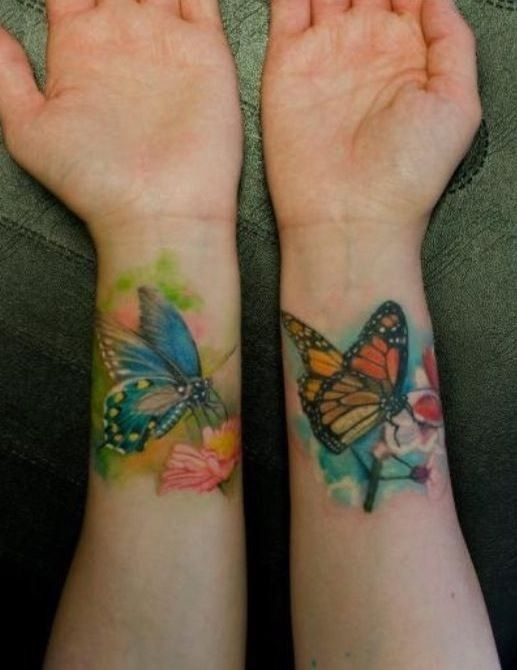 1000 Ideas About Butterfly Wrist Tattoo On Pinterest Ideas And Designs