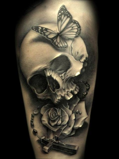 3D Skull Tattoo For Women New Tattoo 2017 Pinterest Ideas And Designs