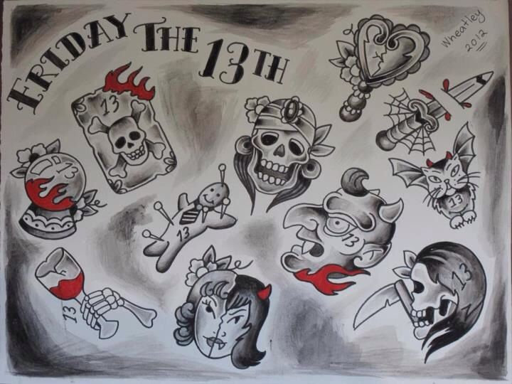 10 Best Friday The 13Th Tattoos Images On Pinterest Ideas And Designs