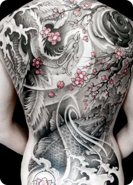Asian Inspired Back Piece By Johan Finné Loving The Ideas And Designs
