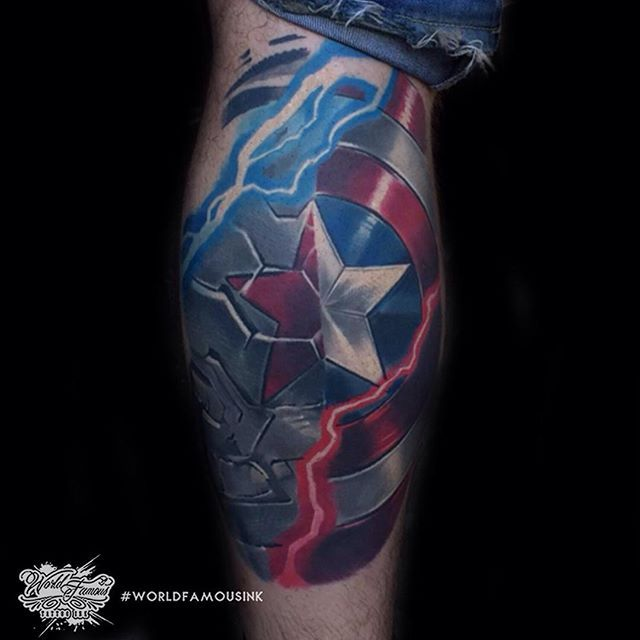 25 Best Ideas About Captain America Tattoo On Pinterest Ideas And Designs