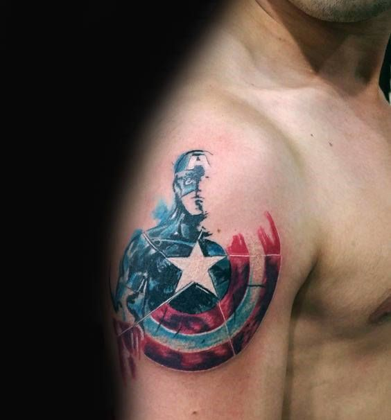 17 Best Ideas About Captain America Tattoo On Pinterest Ideas And Designs