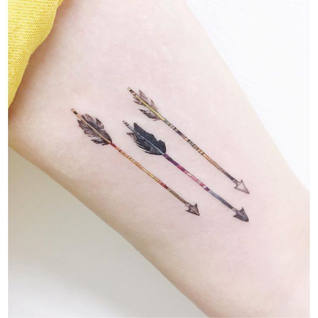 1000 Ideas About Feather Arrow Tattoo On Pinterest Ideas And Designs