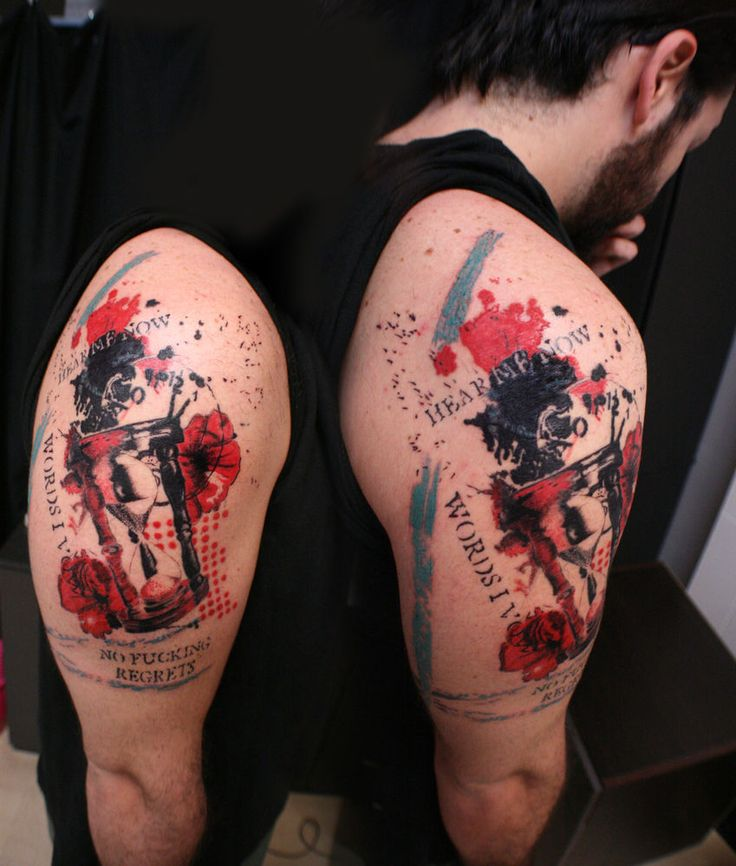 10 Best Images About Trash Style Red Black Tattoos On Ideas And Designs