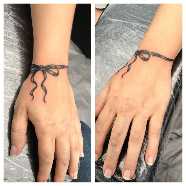 Ribbon Wrist Tattoo Done By Bob Price At Inferno Studios Ideas And Designs