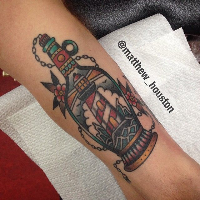 1000 Ideas About Traditional Lighthouse Tattoo On Ideas And Designs