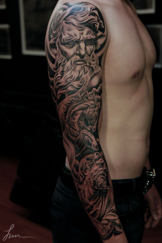 Beautiful Mythical Tattoo Sleeve Tattoo Ideas 3D Sleeve Ideas And Designs