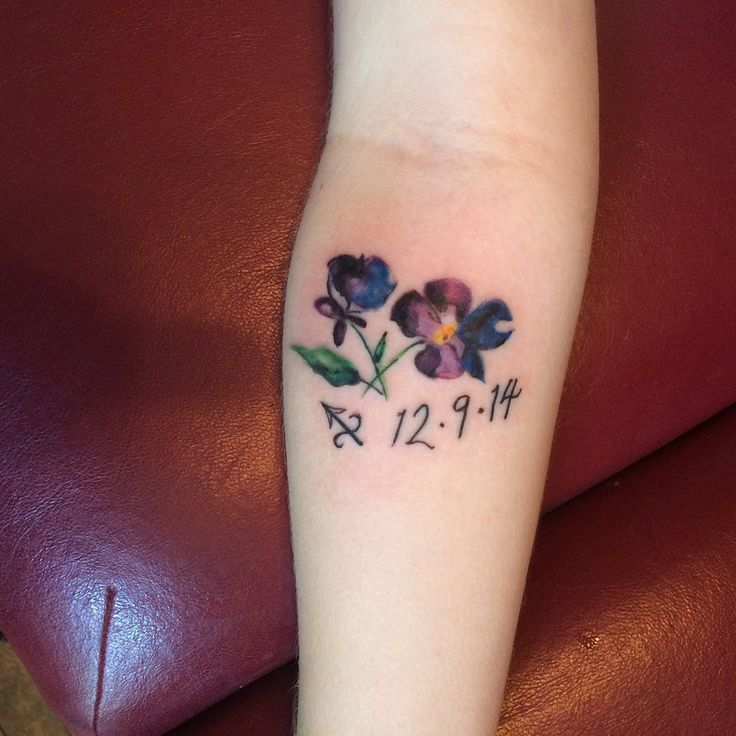 25 Best Ideas About Violet Flower Tattoos On Pinterest Ideas And Designs