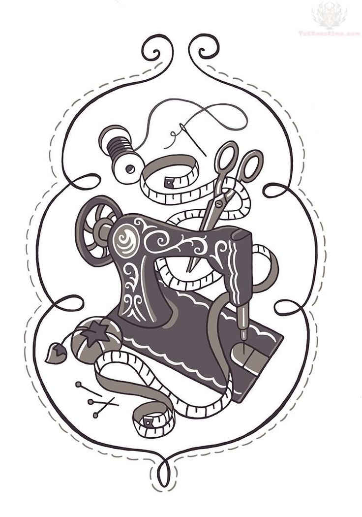 25 Best Ideas About Sewing Machine Tattoo On Pinterest Ideas And Designs