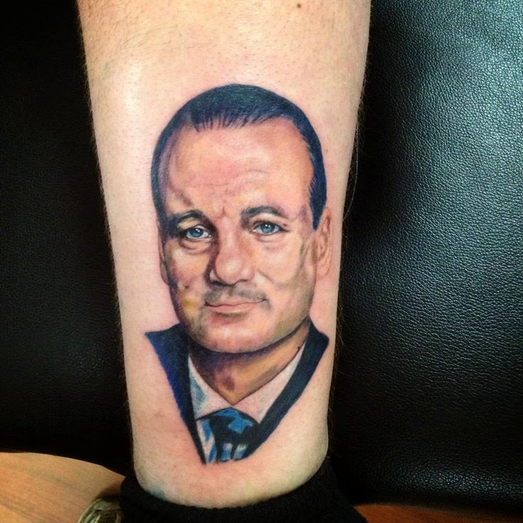 Bill Murray Portrait Tattoo Tattoos Color Pinterest Ideas And Designs