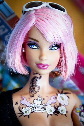 1000 Images About Tattooed Barbies And Dolls On Pinterest Ideas And Designs