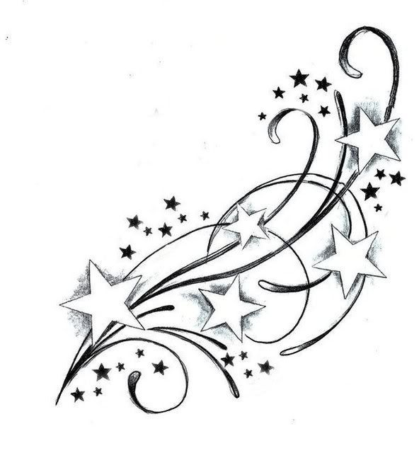 Best 25 Star Tattoos Ideas On Pinterest No Outline Ideas And Designs