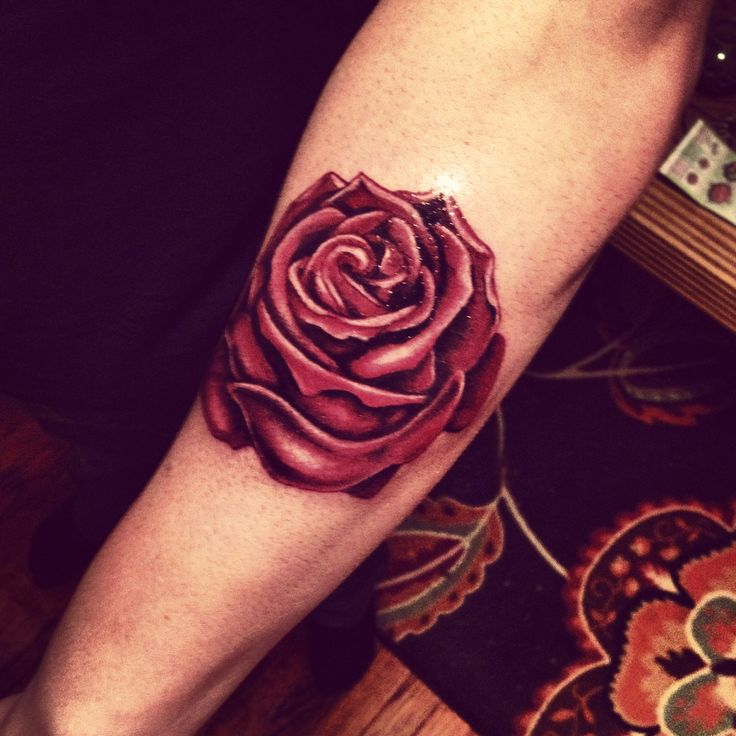 Realistic Red Rose Tattoo Tattoos Pinterest Colors Ideas And Designs