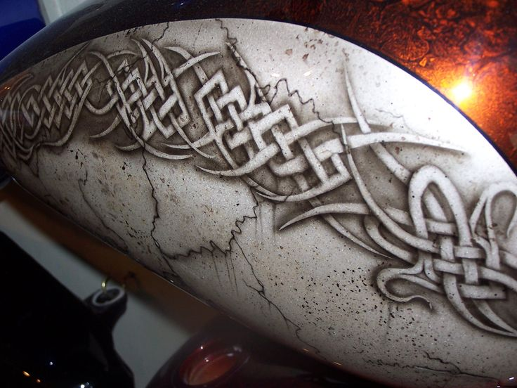 Motorcycle Tattoo Tribal Custom Airbrush Painted Tribal Ideas And Designs