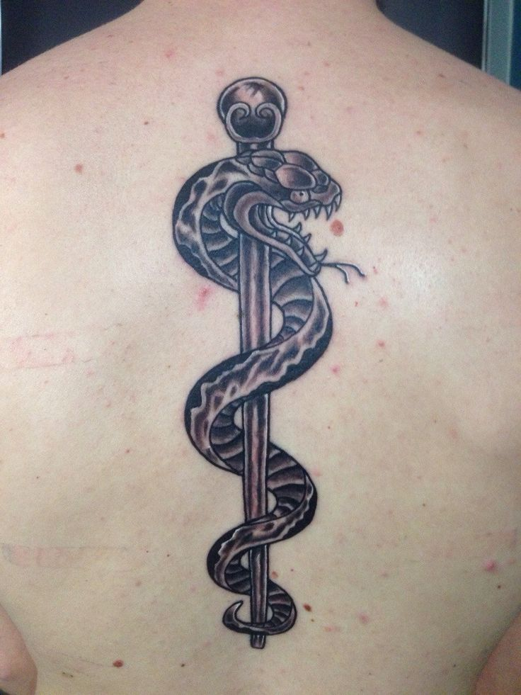 Rod Of Asclepius Tattoo Google Search Tattoos N Stuff Ideas And Designs