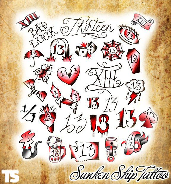 1000 Ideas About Number 13 Tattoos On Pinterest 13 Ideas And Designs