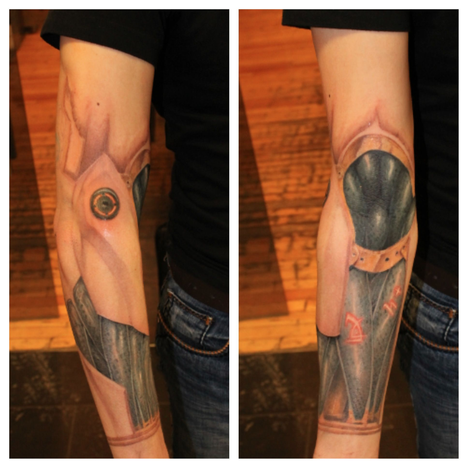 Bionic Arm Tattoo By Mikey Tatoosleeve Pinterest Ideas And Designs