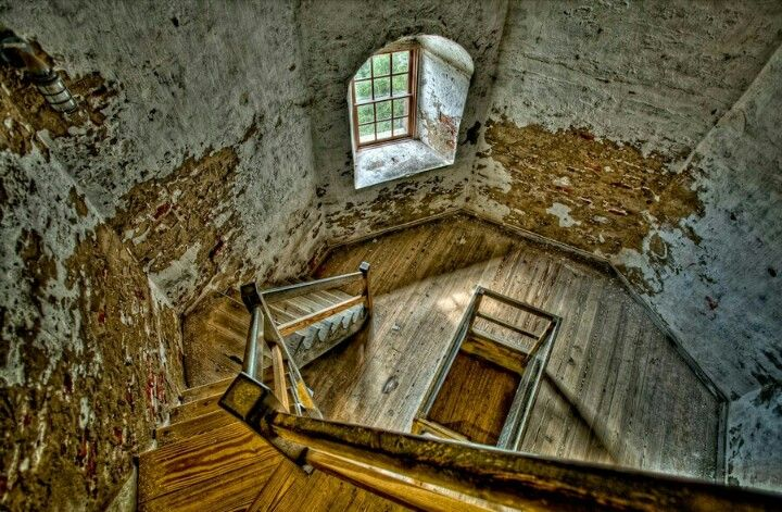 Lighthouse Stairs Old Baldy Light Nc Lighthouses Ideas And Designs