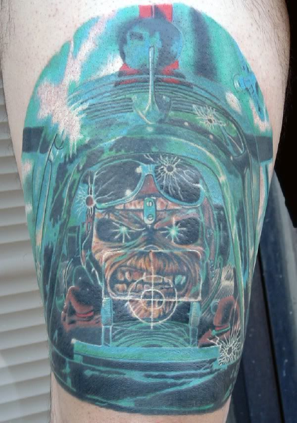 Iron Maiden Aces High Tattoo Of Eddie From Iron Maiden Ideas And Designs