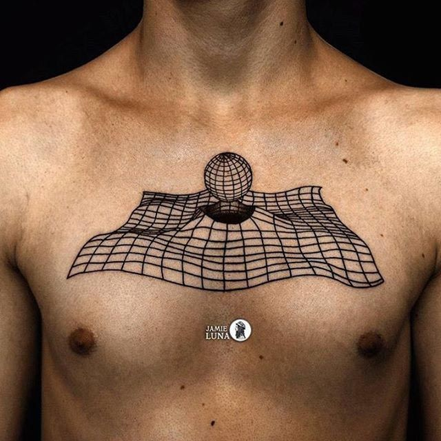 Pure 3D Tattoo On Chest 3D Tattoo Pinterest 3D Ideas And Designs