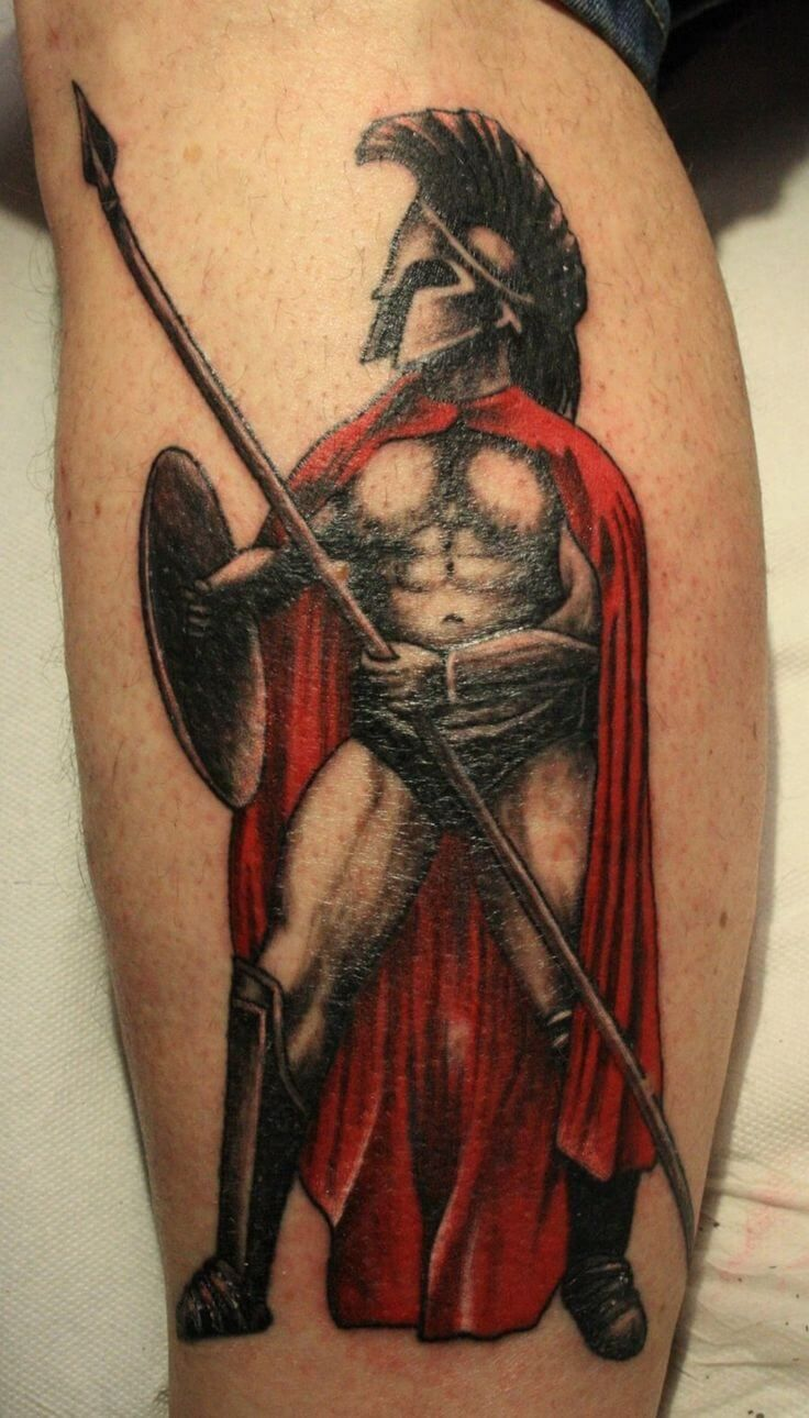 300 Spartan Tattoo Designs And Ideas On Leg 300 Spartan Ideas And Designs