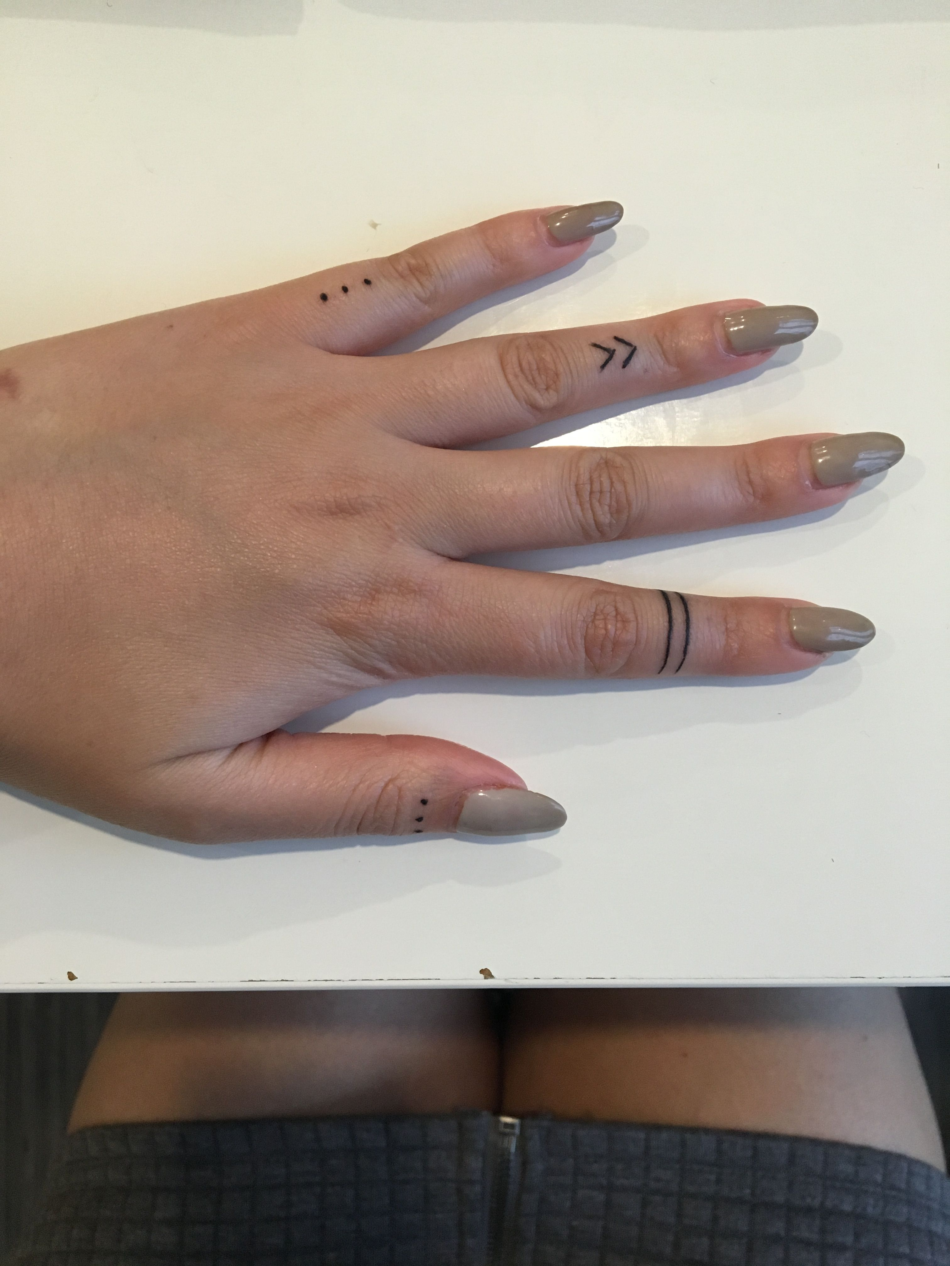 Finger Tattoos Three Dots Warrior Band Chevron Ideas And Designs