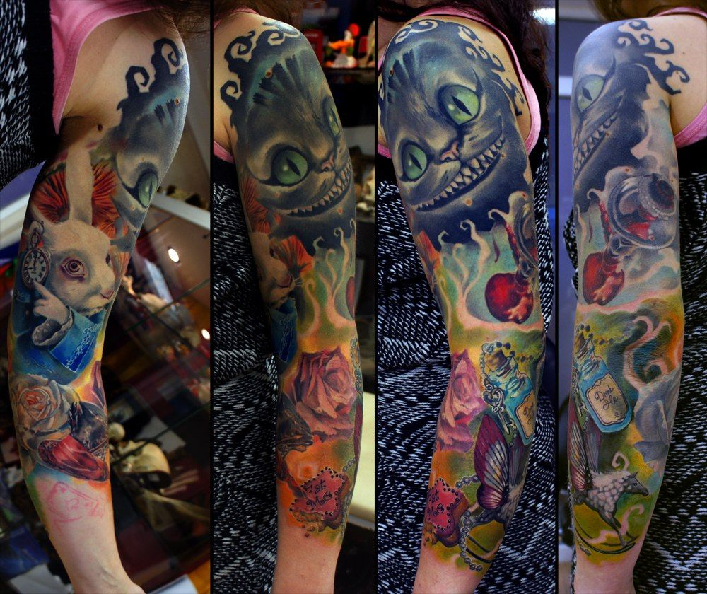 Alice In Wonderland Sleeve In Progress By Grimmy3D Ideas And Designs