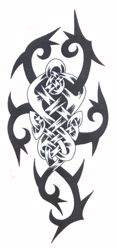 Tribal Celtic Strength Tattoo Tattoos Pinterest Ideas And Designs