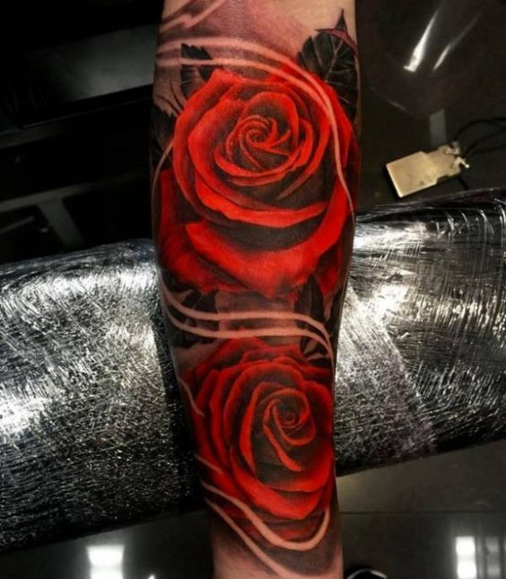 Tattoo Two 3D Rose Flower Big Http Tattootodesign Com Ideas And Designs