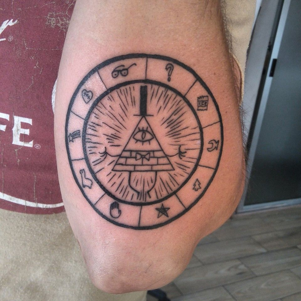Bill Cipher Tattoo Gravity Falls Filtros Dos Sonhos Ideas And Designs