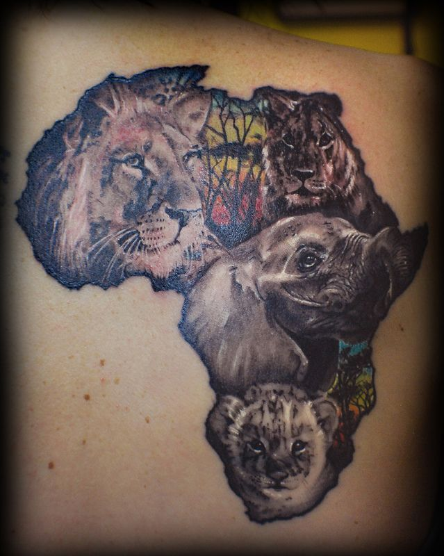 Africa Africa Tattoos Africa And Tattoo Ideas And Designs