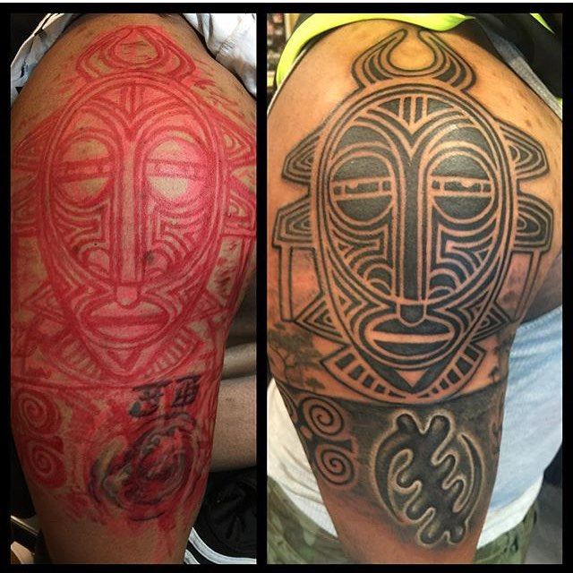 Dope African Tribal Mask And Adinkra From Ryanhenrytattoo Ideas And Designs