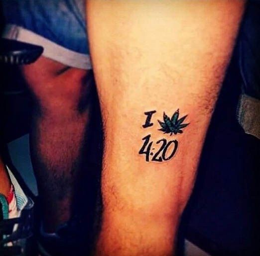 """I Love 420"" Tattoo Short And To The Point This Person Ideas And Designs"