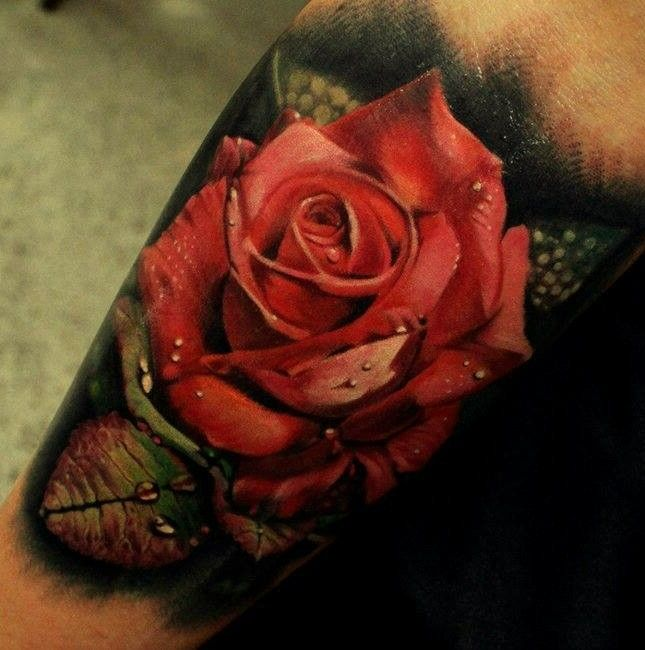 3D Red Rose Tattoo Picture 3Drose Tattoo Rose Ideas And Designs