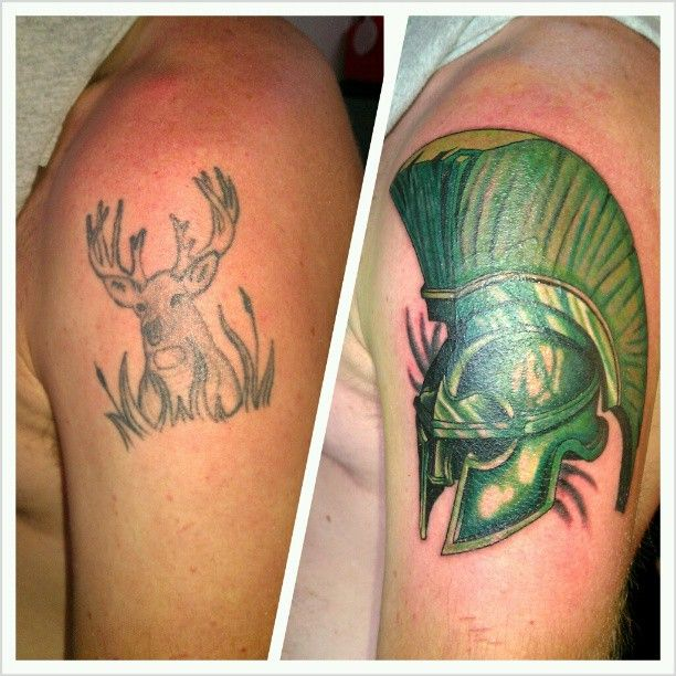 Cover Up I Did Tonight For A State Fan Tattoo Ideas And Designs