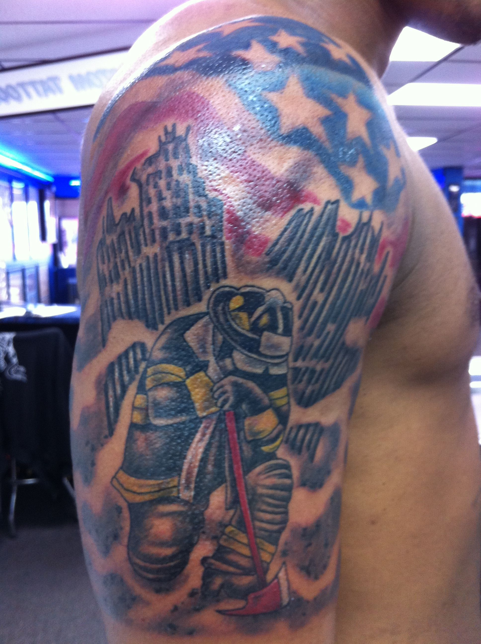 9 11 Memorial Tattoo By Joel Tattoo Charlie S Preston Hwy Louisville Ky Tattoos By Joel Ideas And Designs